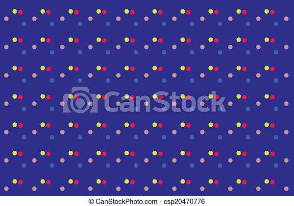 kropkuje, barwny, abstrakcyjny, struktura, tło., wektor - csp20470776