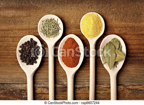 krydda, mat, krydda, ingredienser - csp6607244