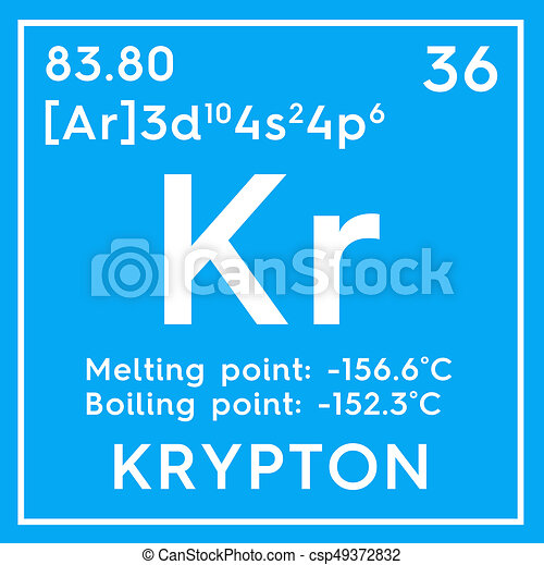 Krypton Noble Gases Chemical Element Of Mendeleevs Periodic Table