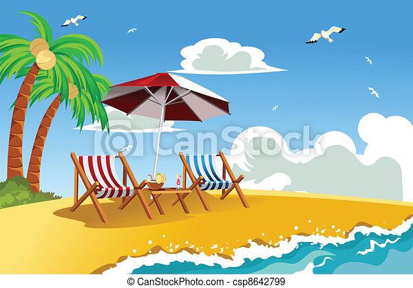 krzesła, plaża - csp8642799