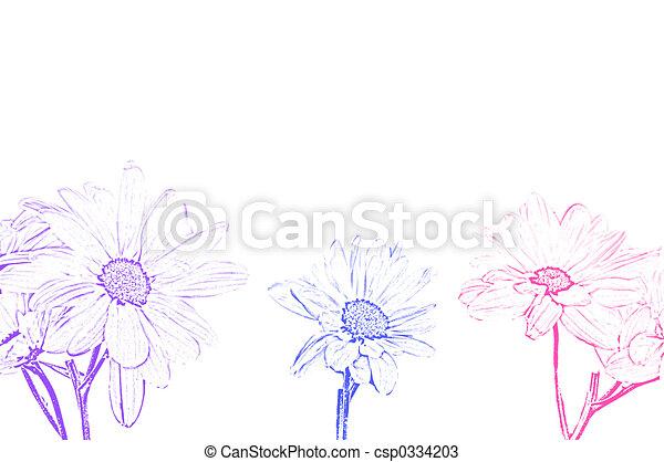 księżyc, sztuka, ilustracja, shasta margerytka - csp0334203