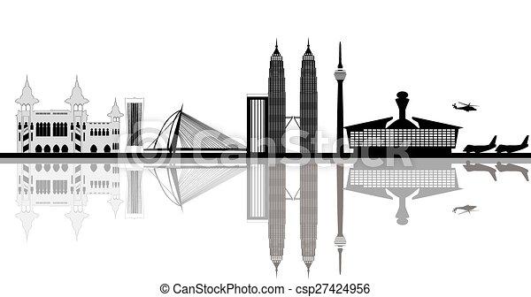 kuala lumpur capital city malaysia - csp27424956