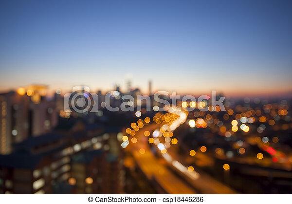 Kuala Lumpur Skyline with Highway Blurred Background - csp18446286
