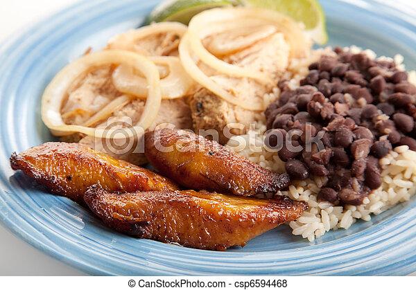 kubanka, jadło, słodki, -, plaintains, smażył - csp6594468