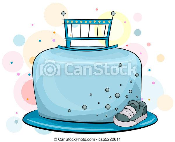 Kuchen, baby- jungen. Junge, abbildung, baby, thema,... Clipart ...