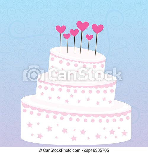 Kuchen, design. Blaues, aus, abbildung, vektor, design,... Vektor ...