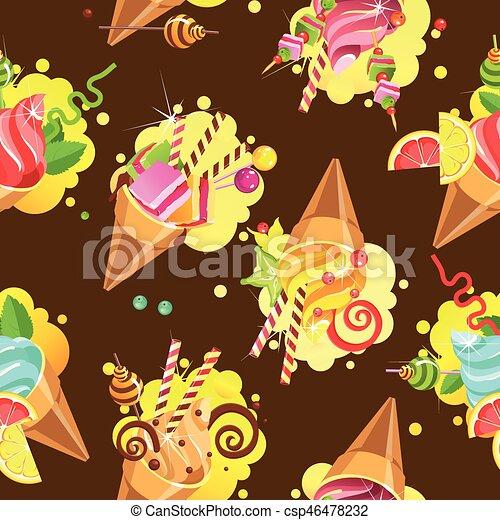 kuchen muster seamless csp46478232 - Kuchen Muster