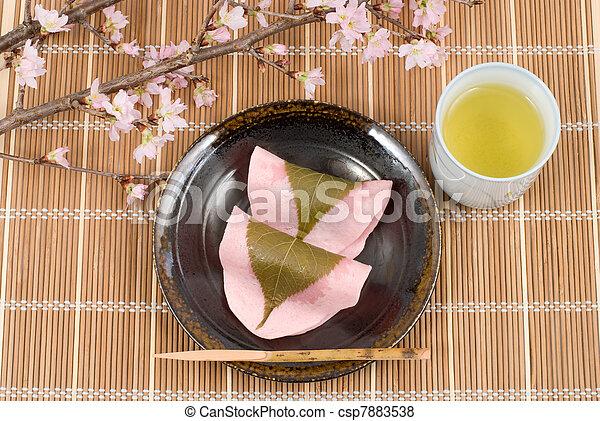 Kuchen Nachtisch Reis Japanisches Marmelade East Blatt