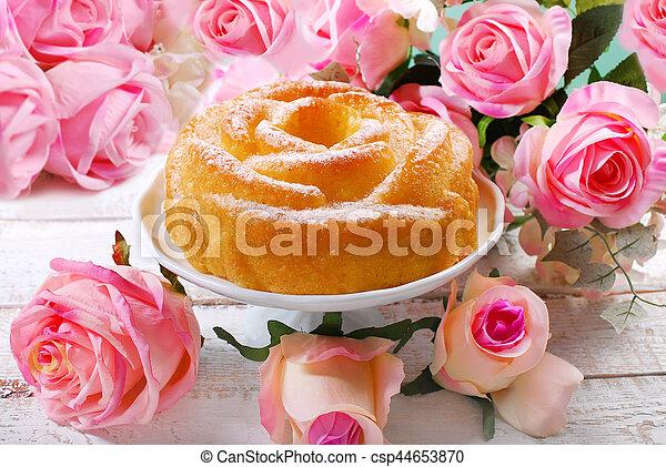 Kuchen Rose Valentines Geformt Romantische Geformt Rose