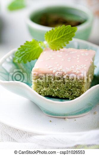Kuchen Tee Glasur Kakau Grun Matcha Weisses Kuchen Matcha