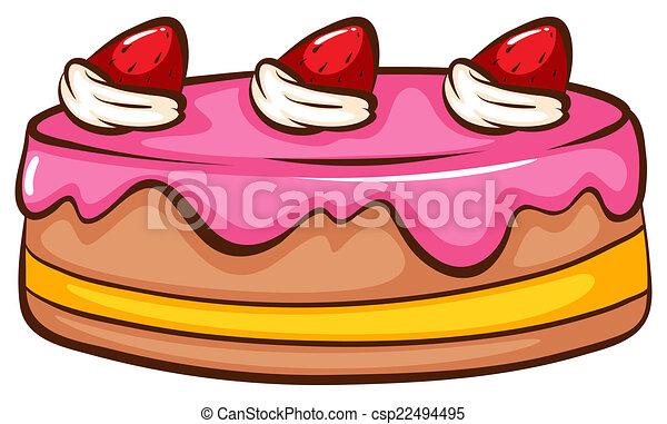 Kuchen Erdbeer Abbildung