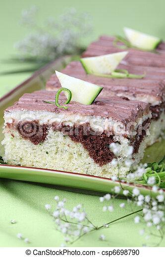 Kuchen Zuccini Vanille Seicht Dof Sauer Kakau Glaze