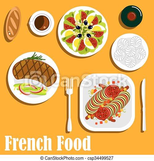 Kuchnia Główny Kanał Desery Francuski Bieg