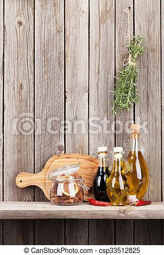 Kuchnia Półka Przyprawy Przybory Zioła