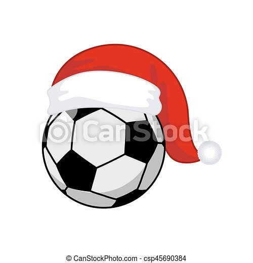 Kugel Claus Jahr Sport Santa Hat Neu Fussball