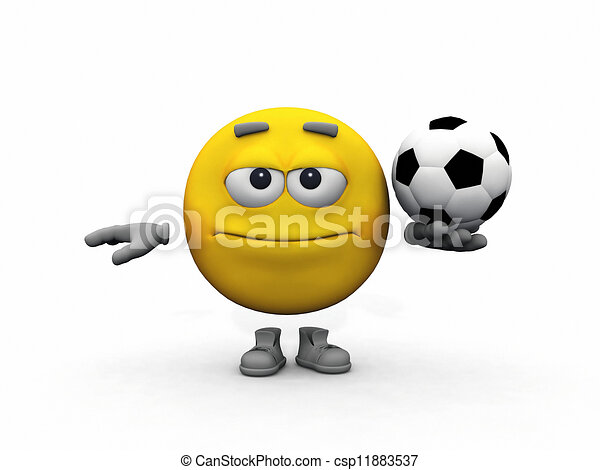 Kugel Fussball Smiley