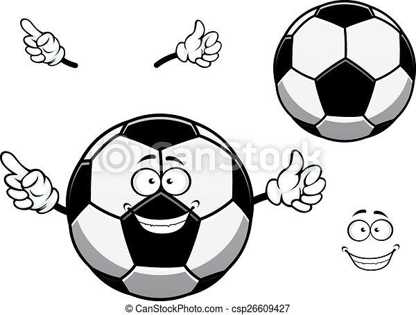 Kugel Fussball Zeichen Oder Fussball Karikatur