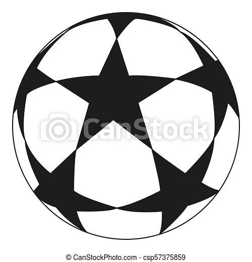 Line Art Schwarz Weiss Fussball Star Sportvektor Illustration