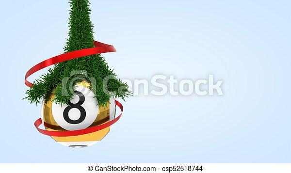 Lotto Weihnachten.Kugel Lotto Abbildung Kiefer Branch 3d