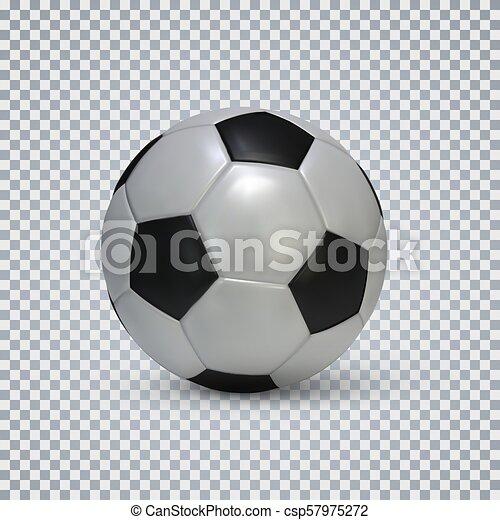 Kugel Realistisch Fussball Abbildung Hintergrund Vektor