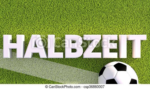 FuГџball Halbzeit