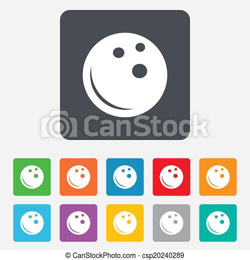 Kugel, Schüssel, Symbol., Zeichen, Sportkegeln, Icon.   Csp20240289