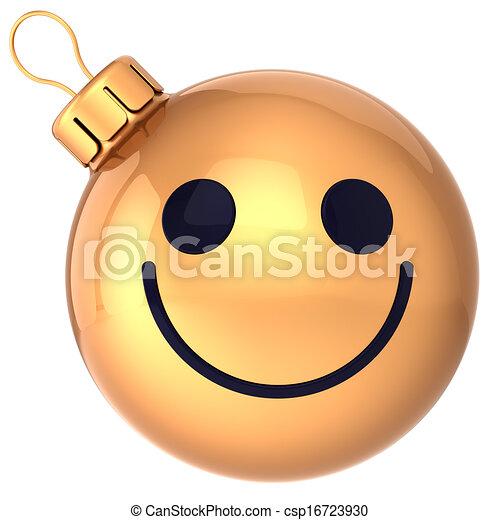 kugel smiley weihnachten gold gesicht ausf hrlich. Black Bedroom Furniture Sets. Home Design Ideas