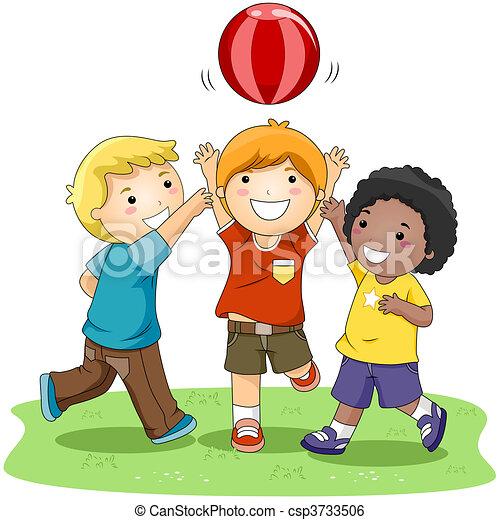 Ball spielen - csp3733506