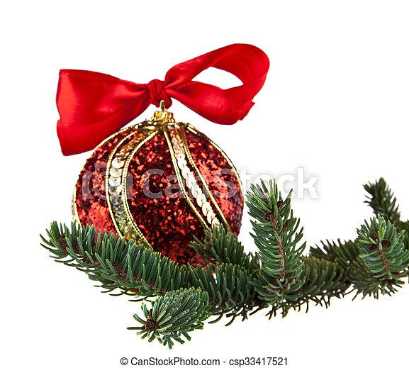 Kugel Für Tannenbaum.Kugel Tannenbaum Rotes Zweig