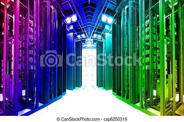 kugel, vernetzung, technologie, kabel, server, daten zentrieren - csp6250316
