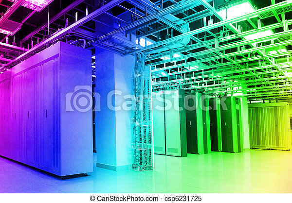 kugel, vernetzung, technologie, kabel, server, daten zentrieren - csp6231725