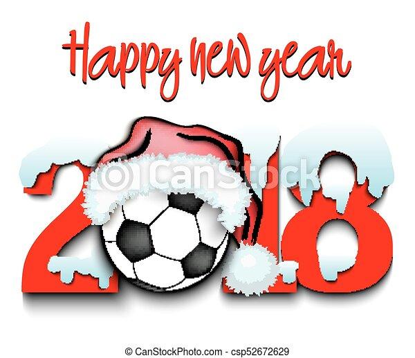Kugel Zahlen Jahr Neu Fussball 2018