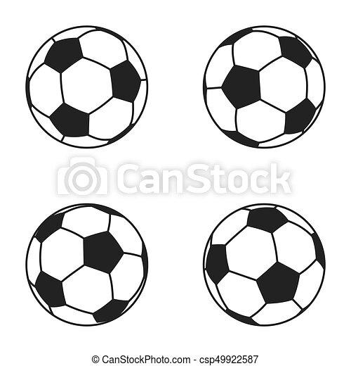 Icon Set Von Ball Fur Europaische Fussball Fussball Symbol