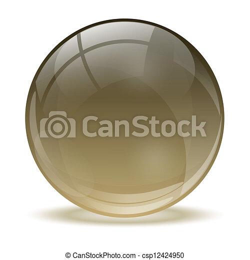 kugelförmig, 3d, kristall - csp12424950