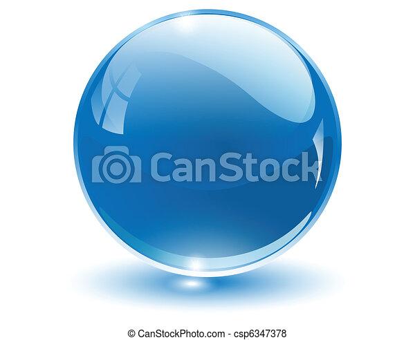 kugelförmig, 3d, kristall - csp6347378