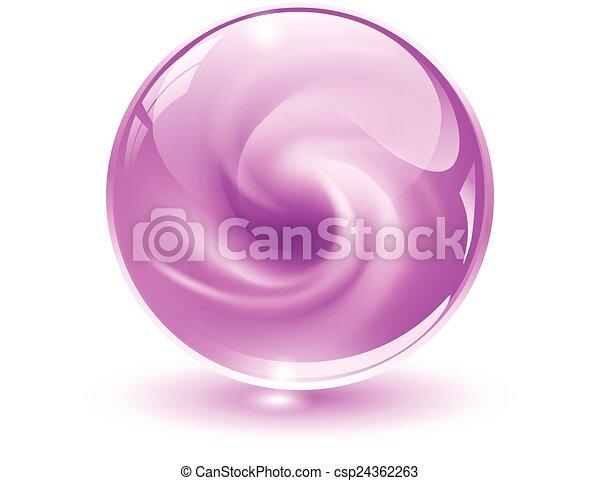 3D-Kristall, Glaskugel - csp24362263