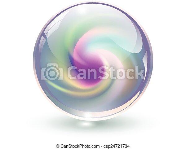 3D-Kristall, Glaskugel - csp24721734