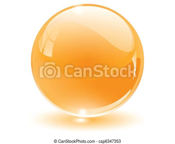 3D-Kristall, Glaskugel - csp6347353