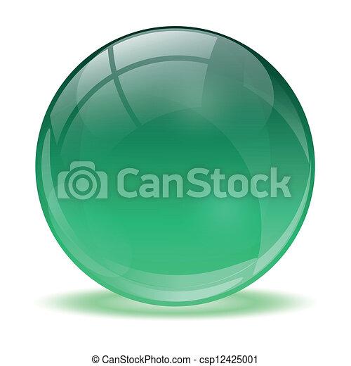 3D-Kristallkugel - csp12425001