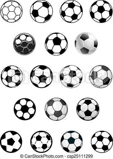 Schwarze Und Weisse Fussballballe Oder Fussball Schwarze Und