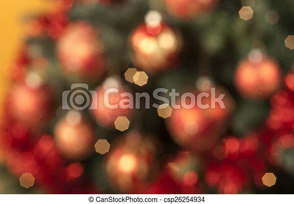 kugeln, gefärbt, fokus, closeup, backg, weihnachten, heraus - csp26254934