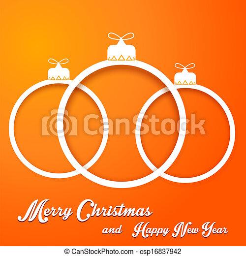 kugeln, weihnachten - csp16837942