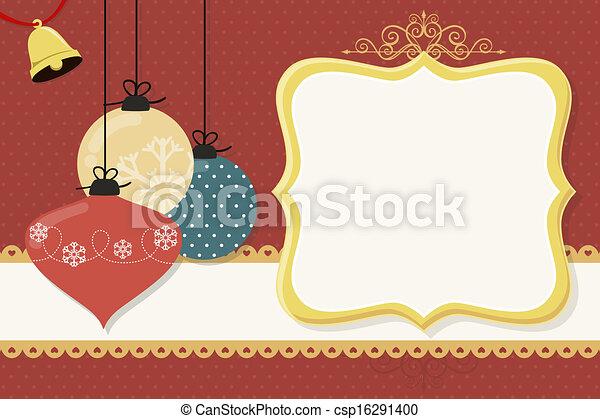 kugeln, weihnachtskarte - csp16291400