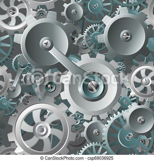 kuggar, maskin, seamless, bakgrund, utrustar - csp69036925