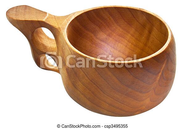 kuksa, finlandese, tazza, legno, -, tradizionale - csp3495355