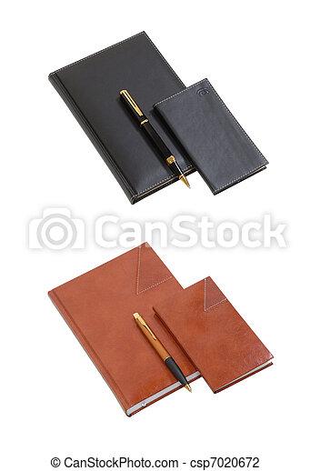 anteckningsbok i läder