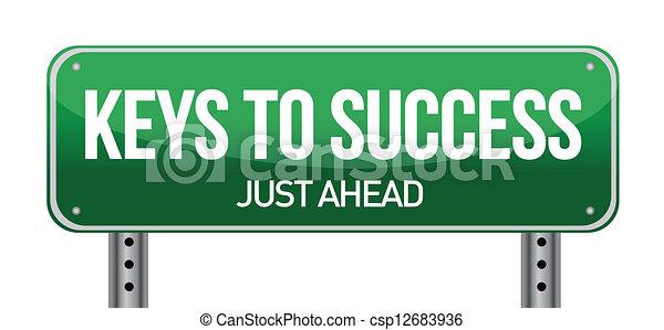 kulcsok, siker - csp12683936