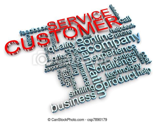kunde, 3d, service, etikette - csp7890179