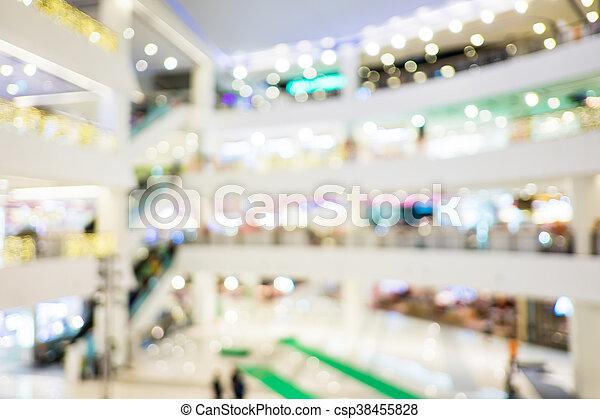 kunde, bokeh, kaufmannsladen, hintergrund, verwischen - csp38455828