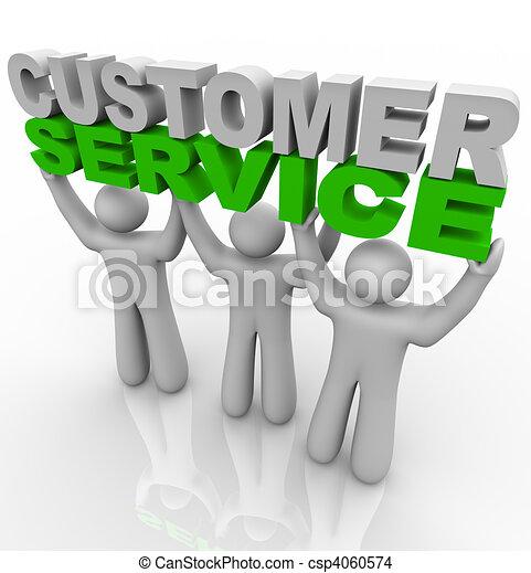 kunde, heben, -, wörter, service - csp4060574